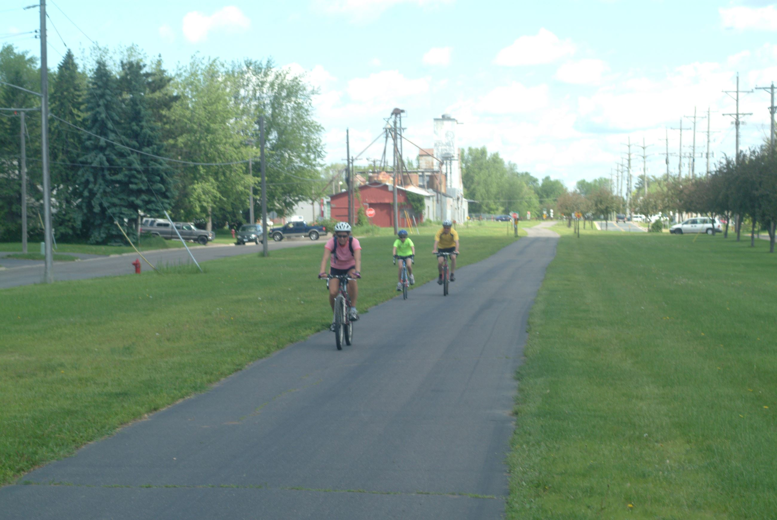 Photo of bike riders on the trail